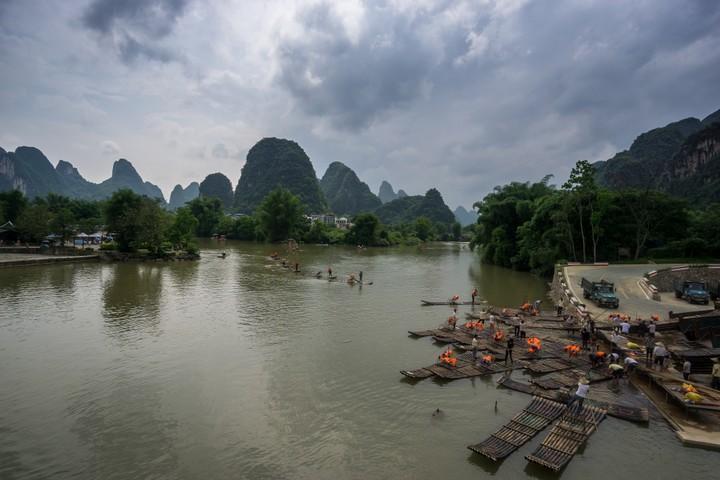 Floats near Yangshuo