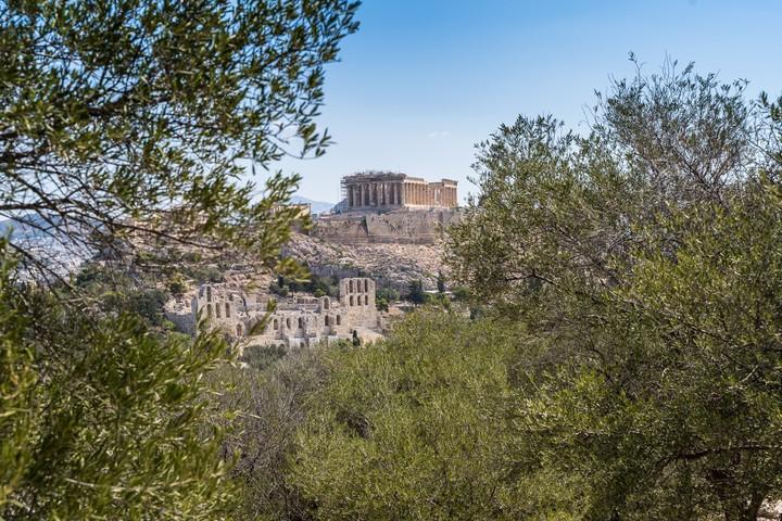 Acropolis from Filopappou Hill