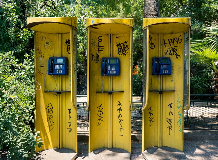 Athens phone boxes
