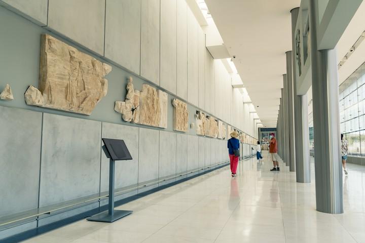 Acropolis museum wall