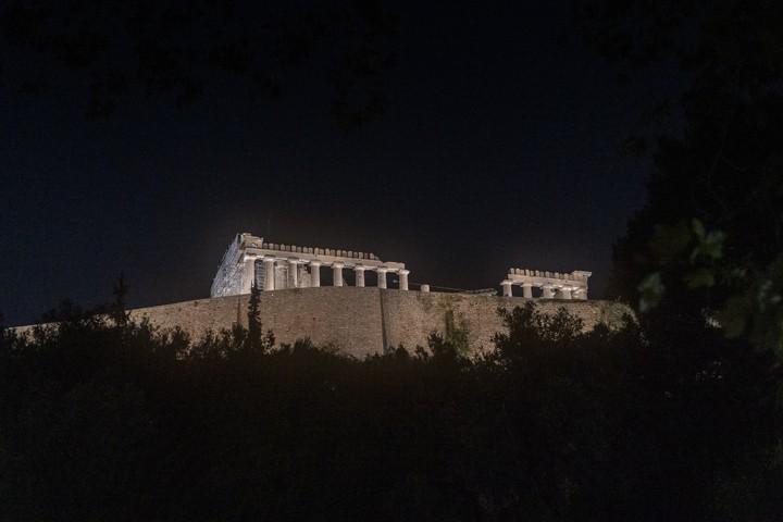 Acropolis at night