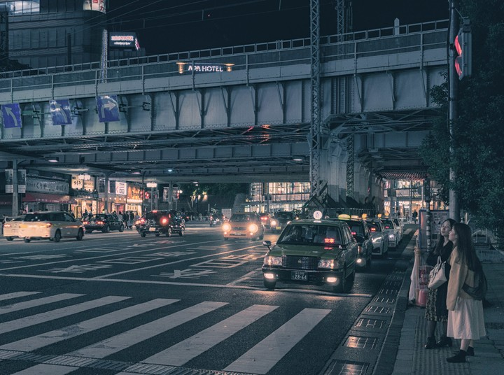 View of bridge near Ueno station in Tokyo, Japan