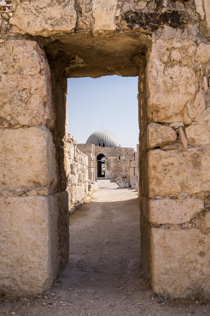 Remnants of bathhouse Amman Citadel