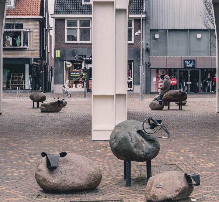 Art installation at Veenendaal