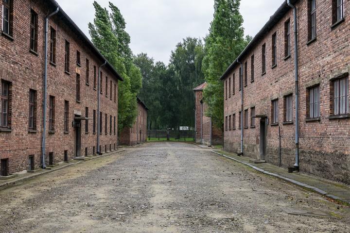 Between the barracks