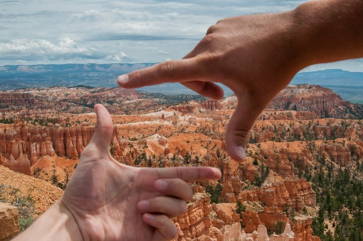 Framing a view of Bryce Canyon National Park
