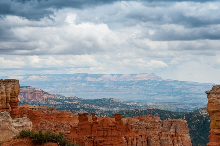 Far view of Bryce Canyon National Park