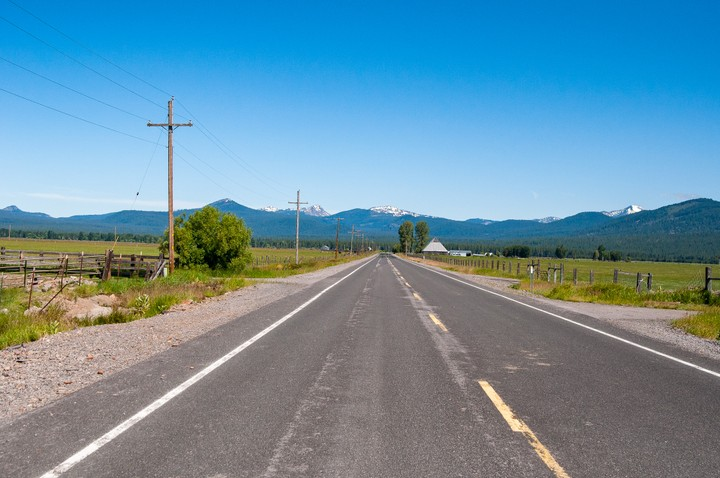 View of rural Oregon countryside