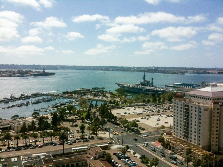 View of the USS Midway in San Diego