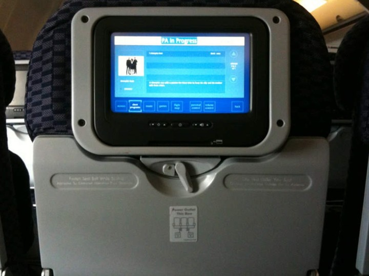 Photo of In flight entertainment system