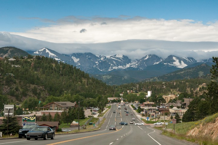 View of the Rocky Mountains