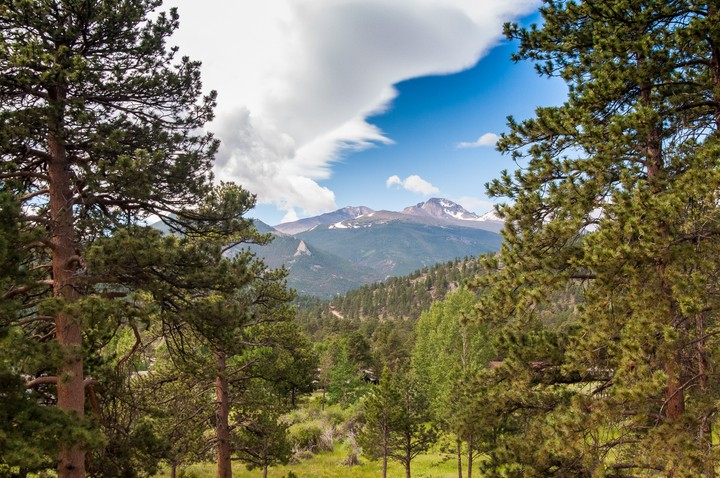 View in Rocky Mountains Nat. Park.