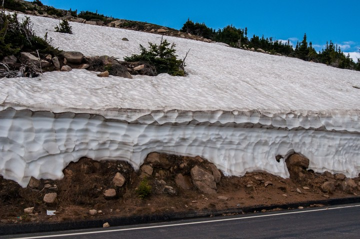 Snow in Rocky Mountains Nat. Park.