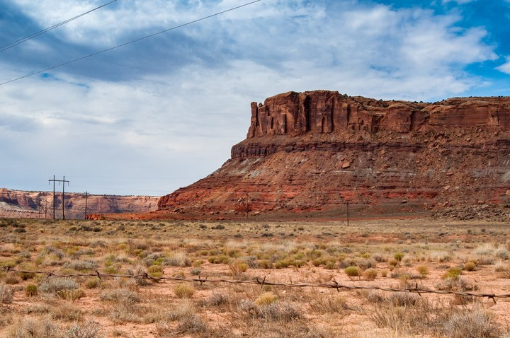View of rock near Arches Nat. Park