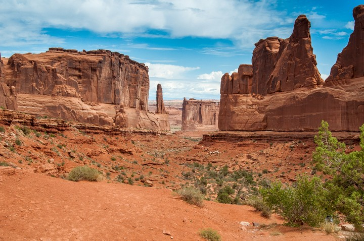 View of stones in Arches Nat. Park