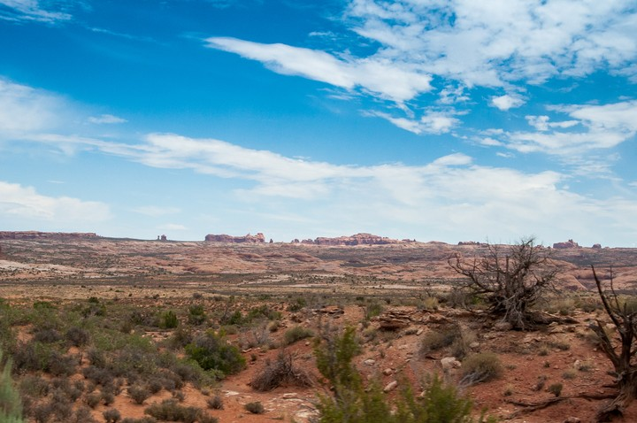 Landscape scenery in Arches Nat. Park