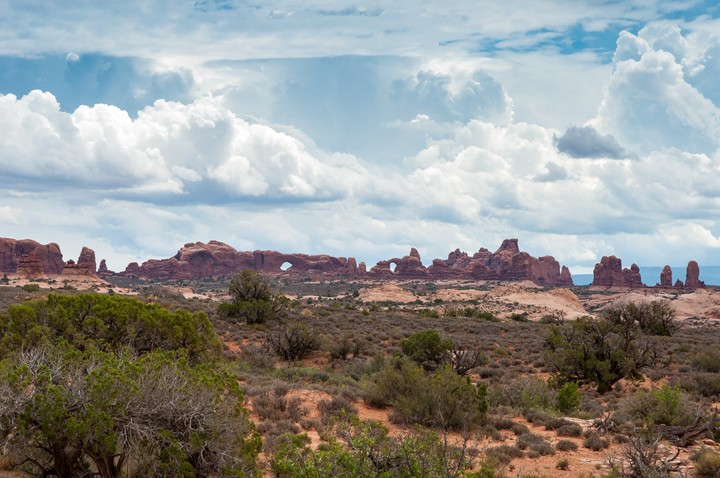 View of arches in Arches Nat. Park