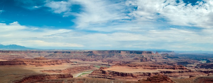 Panoramic view of the Colorado river in Dead Horse Point State Park