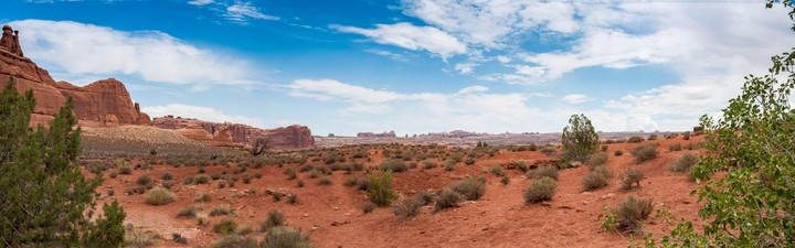 Panorama of scenery in Arches Nat. Park