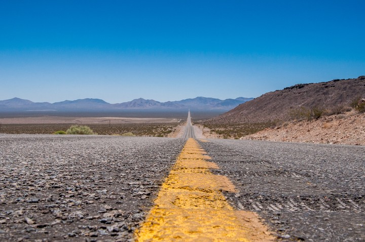 Road leading up to Death Valley National Park