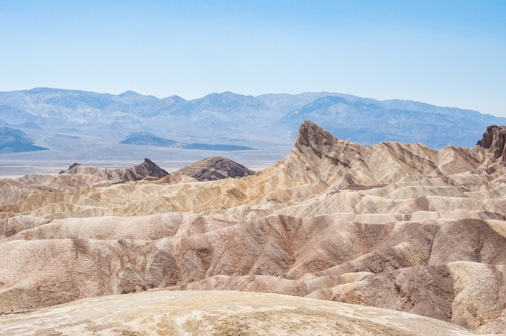 View of sand dunes at Death Valley National Park
