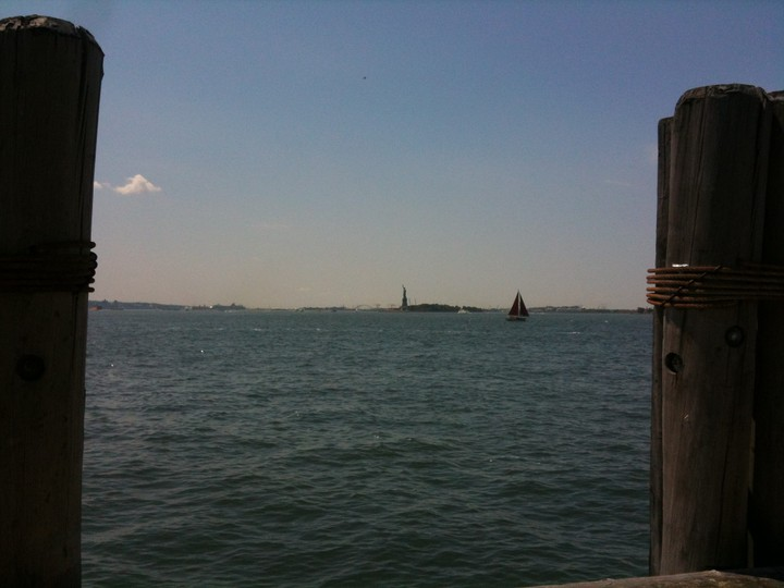 Statue of Liberty in the distance
