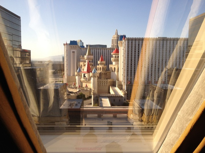 View from Luxor in Las Vegas