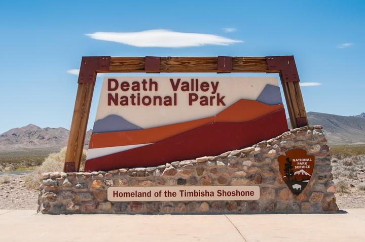 Death Valley Nat. Park sign