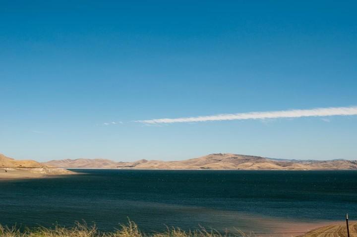 View of lake in California