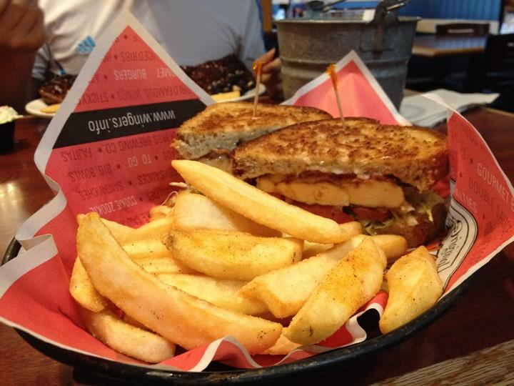 BLT Sandwich with fries