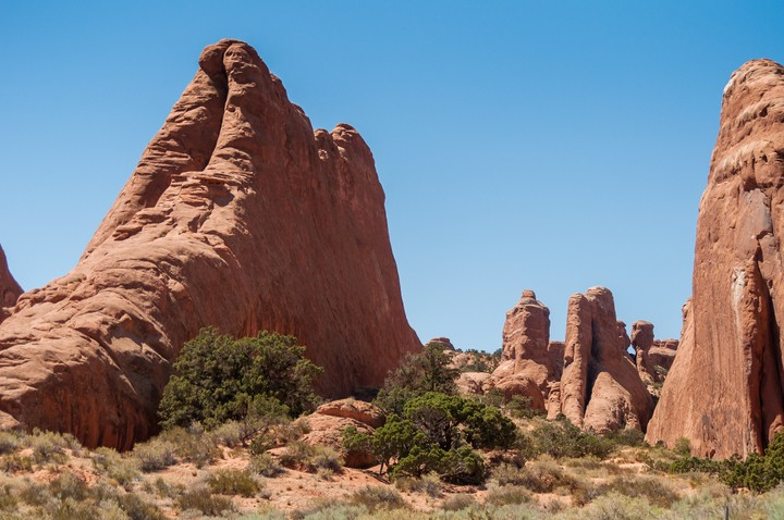 Rock formations at Arches Nat. Park