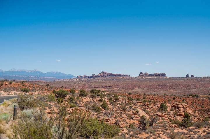 Desert view at Arches Nat. Park