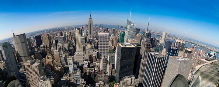 New York panorama from Top of the Rock