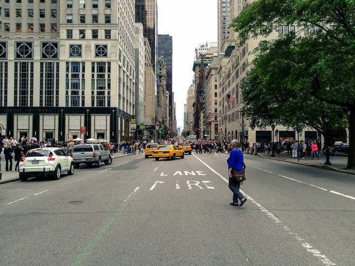 View down a New York Avenue