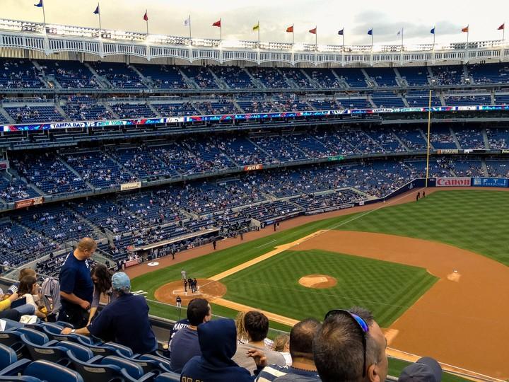 Yankee stadium baseball match