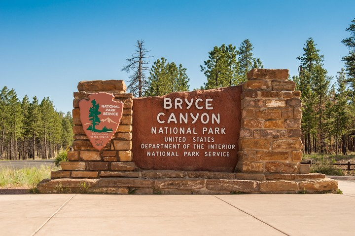 Sign of Bryce Canyon National park