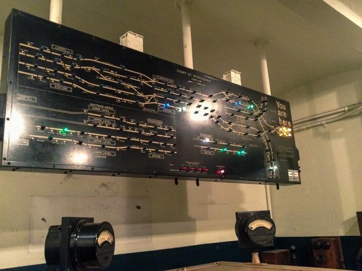 Track diagram in NYC Transit Museum