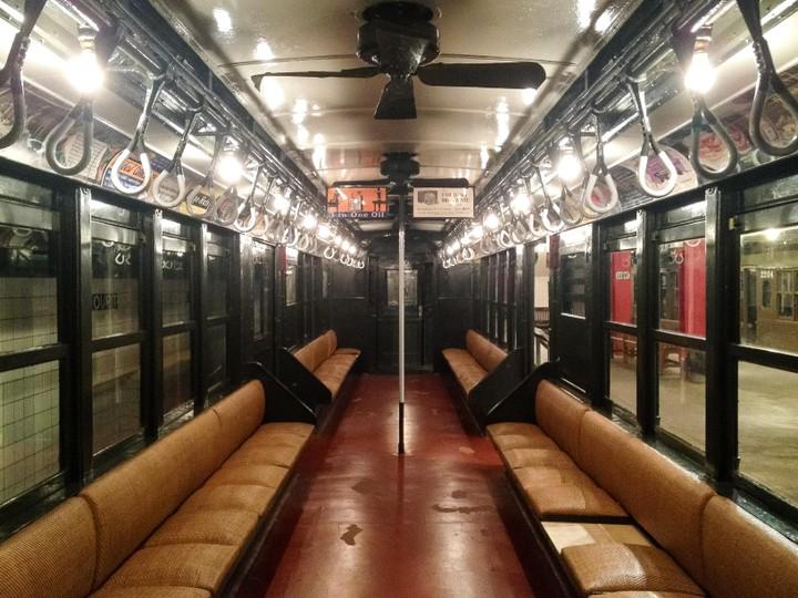 View of old subway car