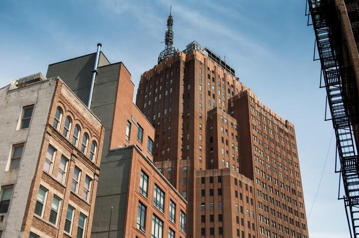 View of Manhattan streetscape