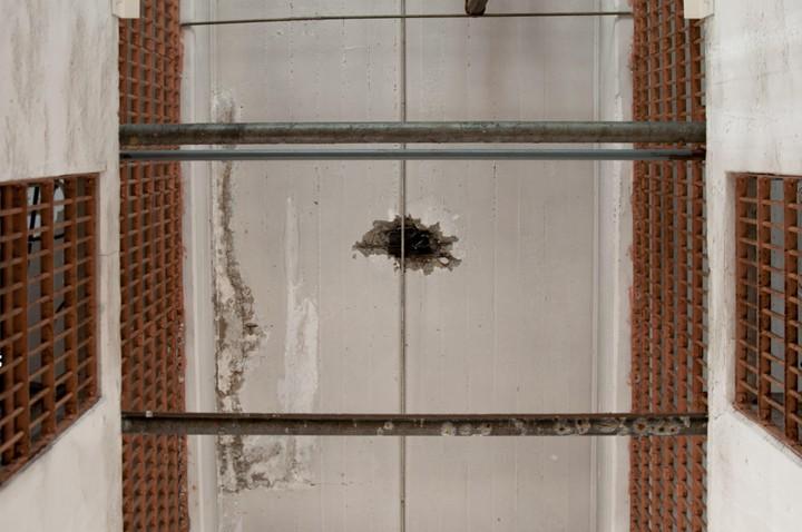 Hole in Alcatraz ceiling