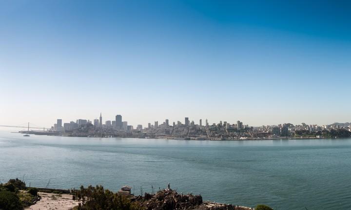 SFO view from Alcatraz