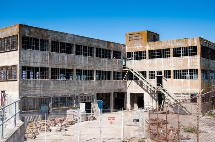 Building on Alcatraz island