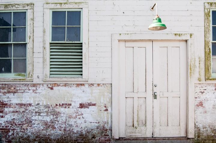 Building door on Alcatraz