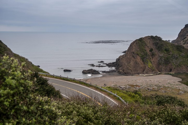 Beach view off of Highway One