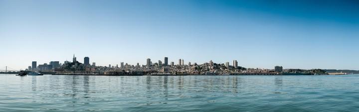SFO Skyline from Alcatraz